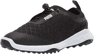 PUMA 女士 Brea Fusion 运动高尔夫鞋 黑色/白色 7