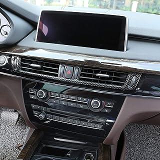 WYZXR Fibra de Carbono Compatible con X5 X6 F15 F16 2015-2017 Consola ABS Aire Acondicionado Cubierta de ventilación Marco Accesorios