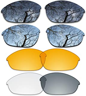 ToughAsNails Set of 4 Replacement Lenses for Oakley Half Jacket Pack-BSHP6