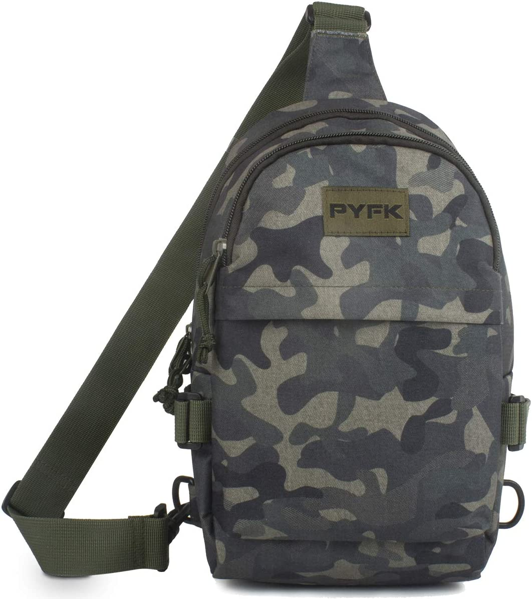 PYFK Camo Sling Backpack for Men Free shipping Crossbody Shoulder Small Sale