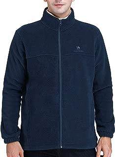 Men Full Zip Fleece Jackets Casual Soft Polar Fleece Coat Lightweight Warm Winter Jacket with Pockets