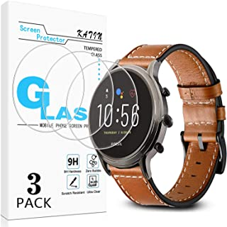 KATIN Fossil Q Explorist HR Gen 4 Screen Protector - [3-Pack] Tempered Glass for Fossil Q Explorist HR Gen 4 Bubble Free