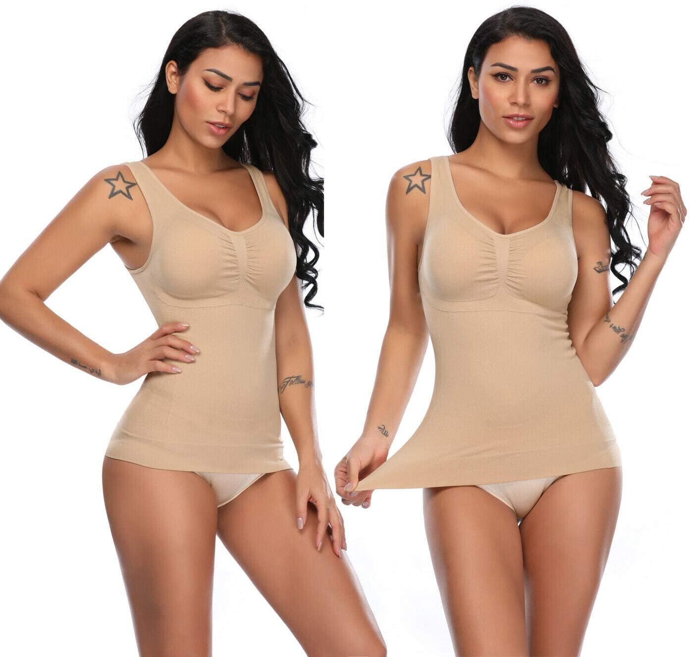 GGDK Garment Slimming Cami Shaper,Womens Slimming Body Shaper Tummy Control Shapewear Vest Cami Top