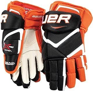 Bauer Vapor APX Junior Gloves - MTO - Blue/Orange - 10
