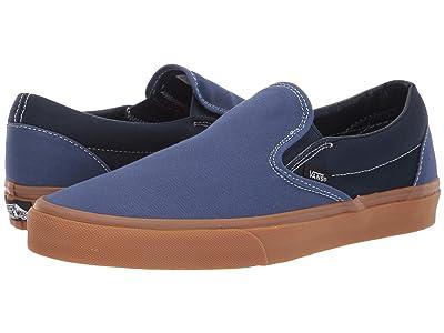 Vans Classic Slip-Ontm ((Gum) True Navy/Dress Blues) Skate Shoes