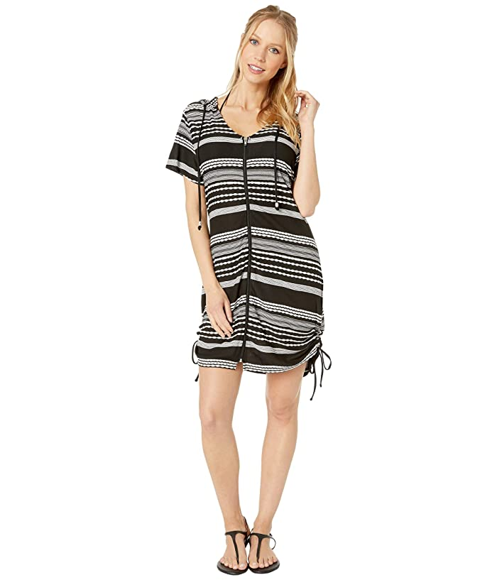 0f1d4ff4dc DOTTI Ibiza Stripe Side Shirred Hoodie Tunic Cover-Up at Zappos.com