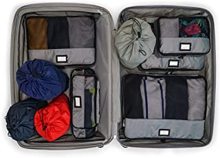 Zoomlite - 10 Set Packing Cubes for Travel | Luggage & Suitcase Travel Organizers | Compress your packing for backpacks, c...