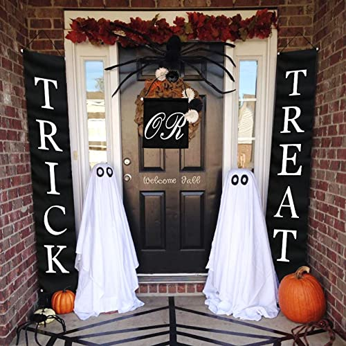 Exceptionnel OurWarm 3pcs Trick Or Treat Halloween Banner For Home Indoor/Outdoor,  Halloween Hanging Sign