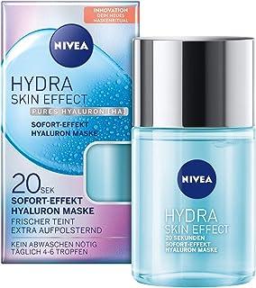 NIVEA Hydra Skin Effect 20 Sek Sofort Effekt Hyaluron Maske, 100 ml, Gesichtsmaske zur Vorbereitung auf die Tages- und Nachtpflege, Maske mit purem Hyaluron HA