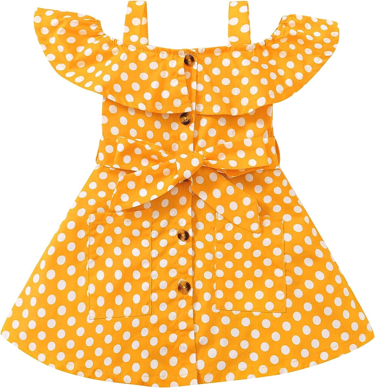 SUNNY PIGGY Kids Ranking TOP14 Toddler Girls Little Dr Dot Polka Dresses Max 68% OFF