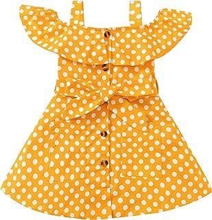 Kids Toddler Baby Girl Clothes Dress Polka Dot Little Girl Summer Overall Sundress Outfits