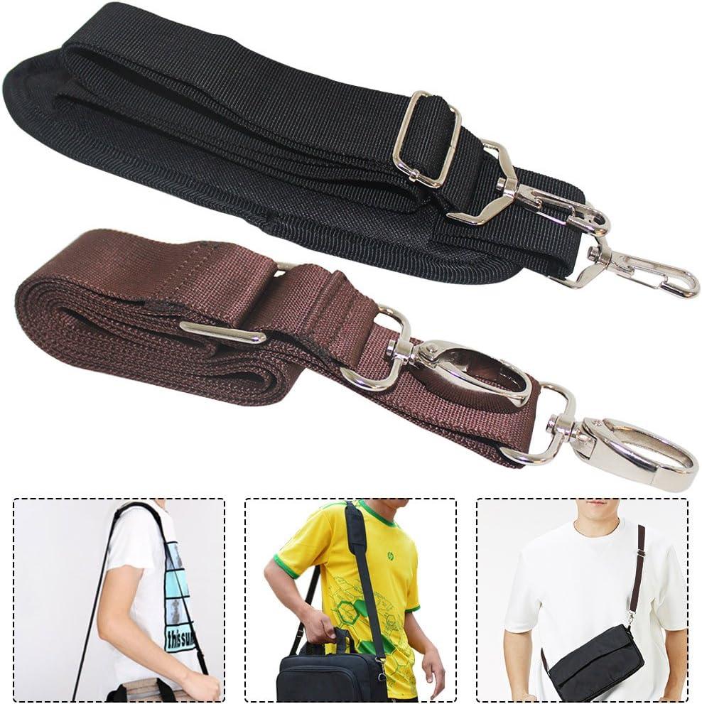 CoolBELL Adjustable Shoulder Strap Luggage Belt with Metal Hooks for Bags//Briefcase//Messenger Bag//Duffel Canvas Black