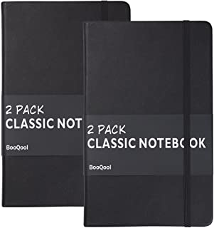 2 Pack Classic Ruled Notebooks/Journals – Premium Thick Paper Faux Leather Writing..