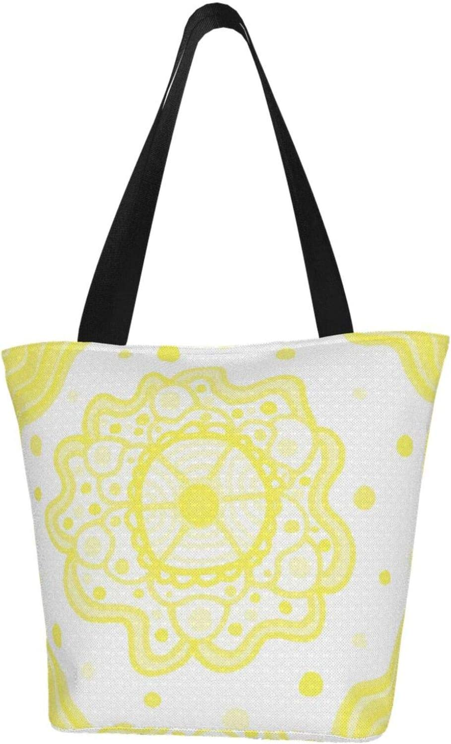 Sale Special Price AKLID Yellow Floral Extra Large Tote In stock Resistant Bag Water Canvas