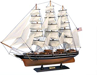 Hampton Nautical Wooden Star of India Tall Model Ship, 30