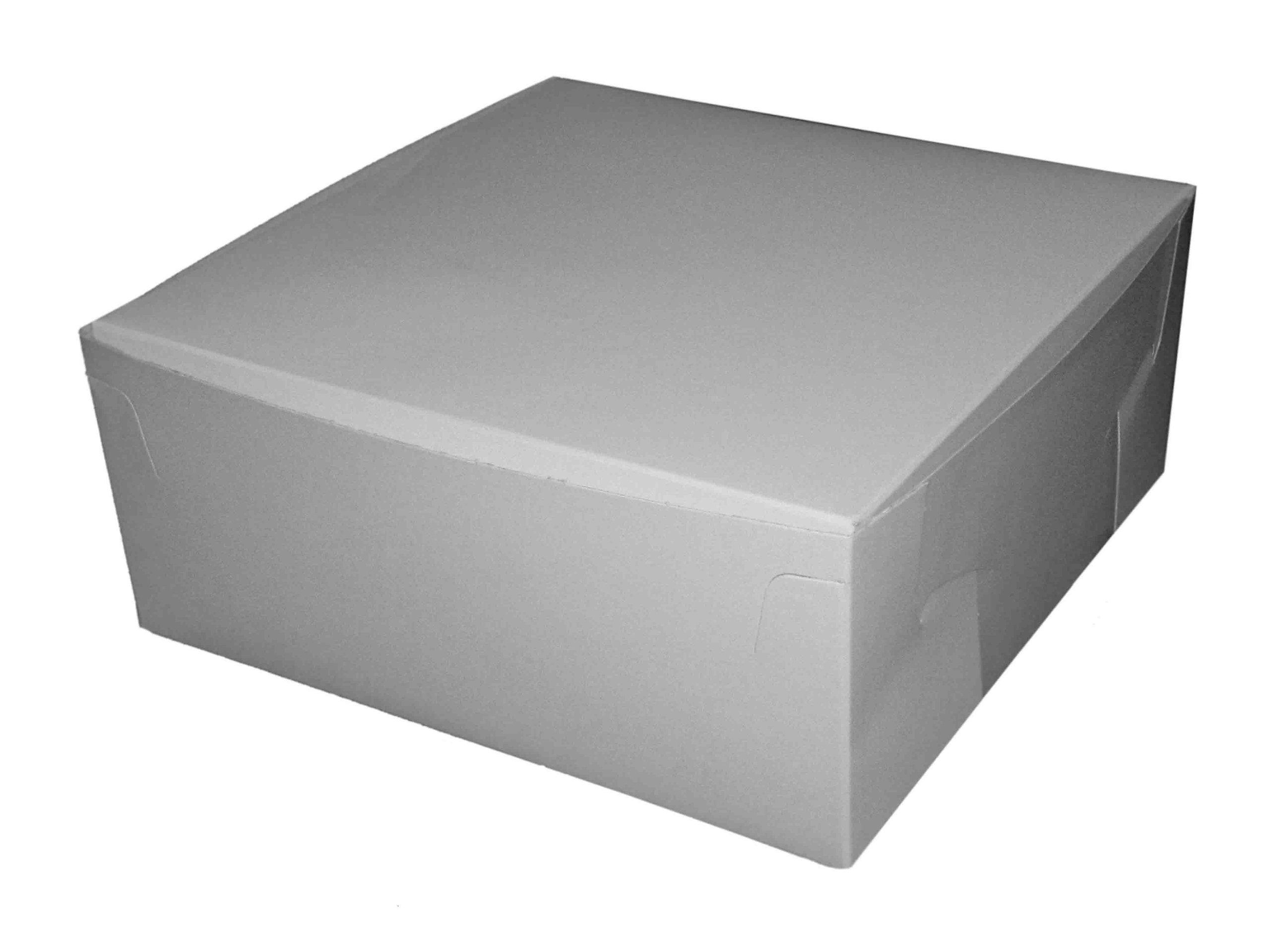 AVM 250 Blanco Caja de cartón para Pasteles (6 x 6 x 3