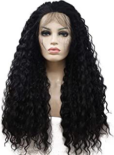 YYCHER Beautiful Wigs, Women's European and Wig Sets in The Middle of The Chemical Fiber Wig Hair Sets - Black - Small Rol...