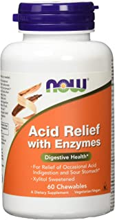 NOW Foods Acid Relief with Enzymes 60 Chews