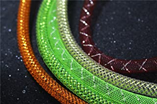 8 pcs Assorted Colors Mylar Tinsel Mesh Tube 8mm Width 1m Length Fly Tying Materials