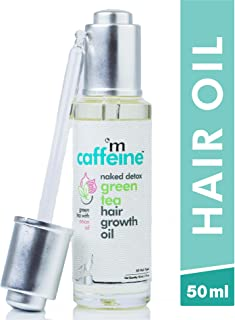 mCaffeine Naked Detox Green Tea Hair Oil | Hair Growth | Onion Oil with 12 Essential Oils | All Hair | Mineral Oil Free | 50 ml