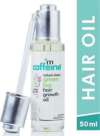 mCaffeine Naked Detox Green Tea Hair Oil | Hair Growth | Onion Oil with 12 Essential Oils | All Hair | Mineral Oil Free | 50 ml