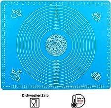 Estera de silicona,estera para hornear, almohadilla de silicona antideslizante, estera para hornear Reutilizable para Fondant Biscuits Pizza Dough sheet tamaño (50 × 40 cm), azul