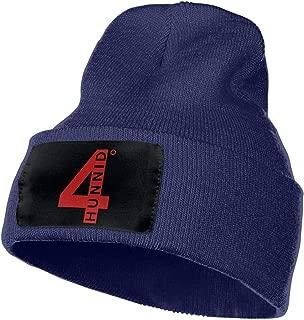 SmallHan Mens & Womens 4hunnid Logo Skull Beanie Hats Winter Knitted Caps Soft Warm Ski Hat Black