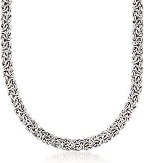 Sterling Silver Classic Byzantine Necklace