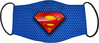 Vista Super Man Printed Mask for Adults - Cotton Reusable Washable Mask Size 20x13 cms