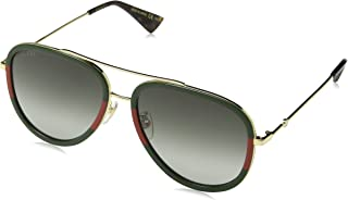 GG0062S 003 Gold/Green GG0062S Pilot Sunglasses Lens...