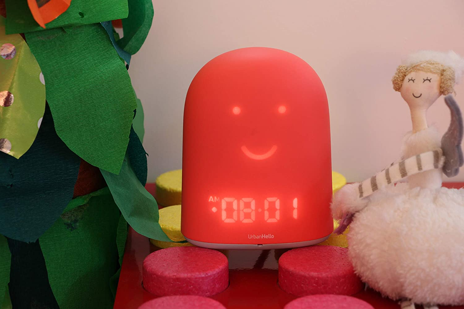 REMI - The Best Ok to Wake Children Clock - Sleep Trainer - Sleep Tracker - Audio Baby Monitor - Night Light & White Noise Sound Machine - mp3 and Streaming Music Speaker - Time-to-Rise Face - Pink