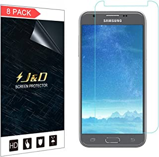 J&D Compatible for 8-Pack Galaxy J3 Emerge / J3 Prime / J3 2017 / J3 Mission / J3 Eclipse / J3 Luna Pro/Sol 2 / Amp Prime 2 Screen Protector, HD Clear Screen Protector for Samsung Galaxy J3 Emerge