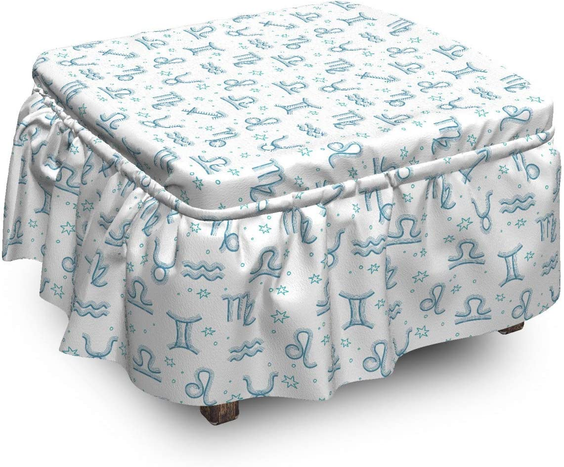Lunarable 70% OFF Outlet Horoscope Ottoman Cover Modern Signs Zodiac 2 Stars Ranking TOP2
