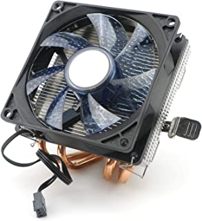 JIUWU CPU Air Cooler 3-Pin Fan with 4 Heatpipes Radiator Blue LED for Intel AMD CPUs 92mm Fan (775 1150 1155 1151 1156)