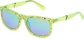 نظارات شمسية للجنسين من ديزل DL026295Q56 - اخضر فاتح/ اخضر عاكس - مدمجة