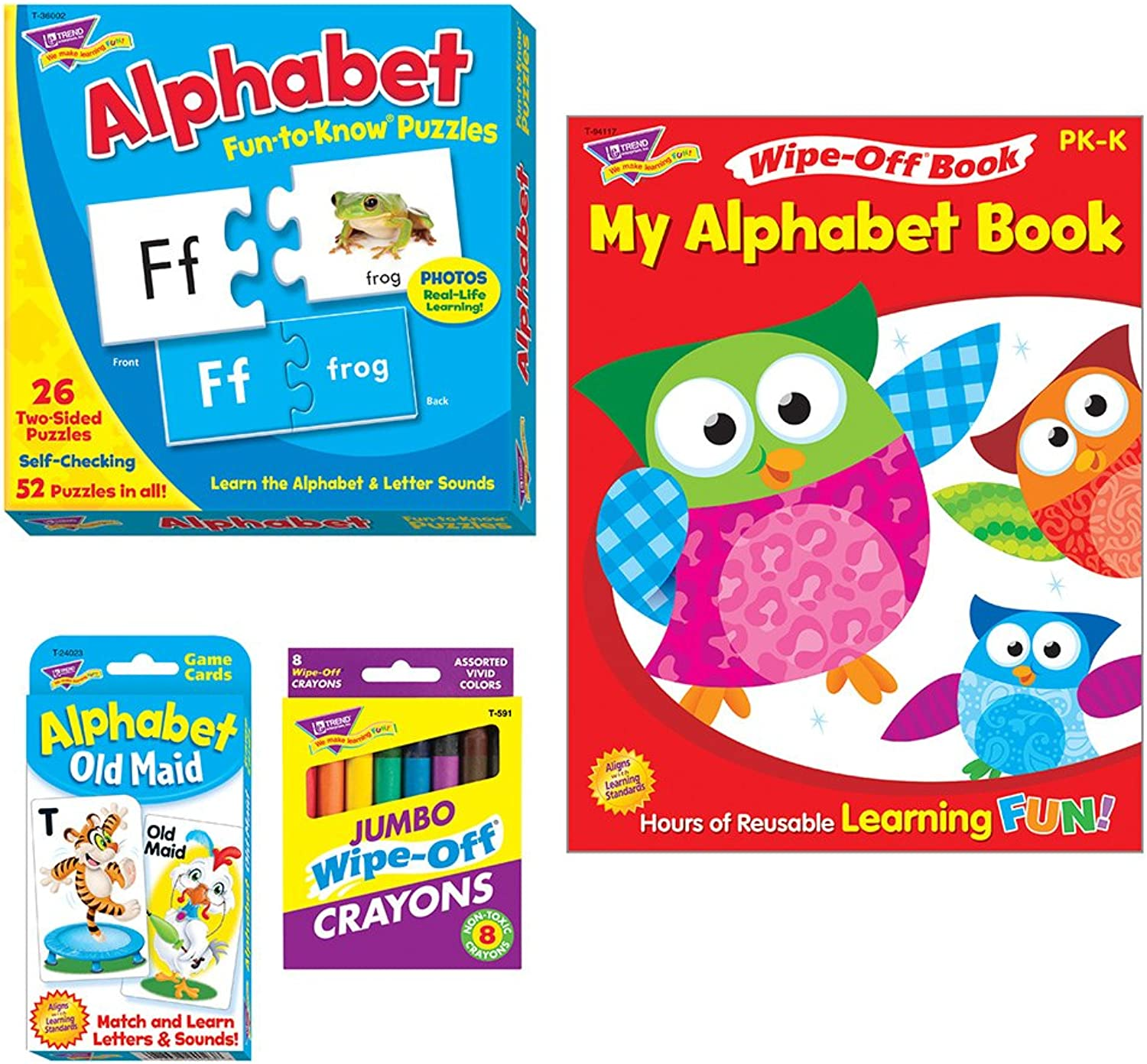 Trend Enterprises T-90879D Alphabet Learning Fun Pack
