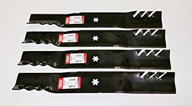 Set of 4, Longer Life Gator Fusion G5 3-In-1 Mulching Blades to Replace MTD Blades 742-0616, 942-0616, 742-04126 942-04312 Used on 42