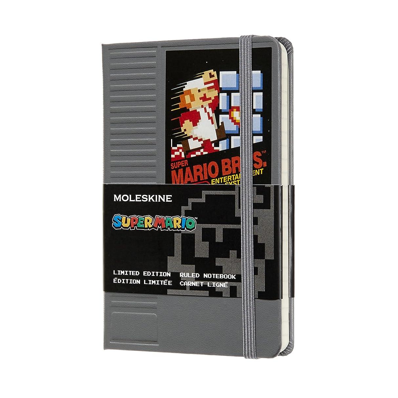 無駄休眠金額モレスキン ノートブック 限定版 スーパーマリオ NESカートリッジ ポケット罫線