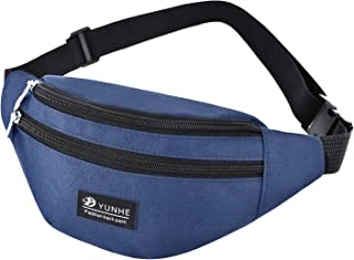 Bageek Men Waist Bag Casual Adjustable Multipurpose Fanny Pack Chest Bag for Outdoor