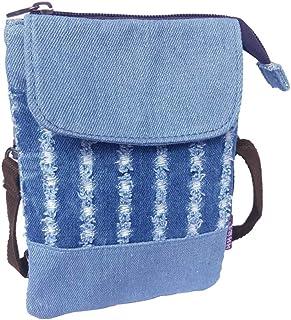 Süße Jeans Crossbody Taschen Kleine Denim Handy Geldbörse mit Schultergurt