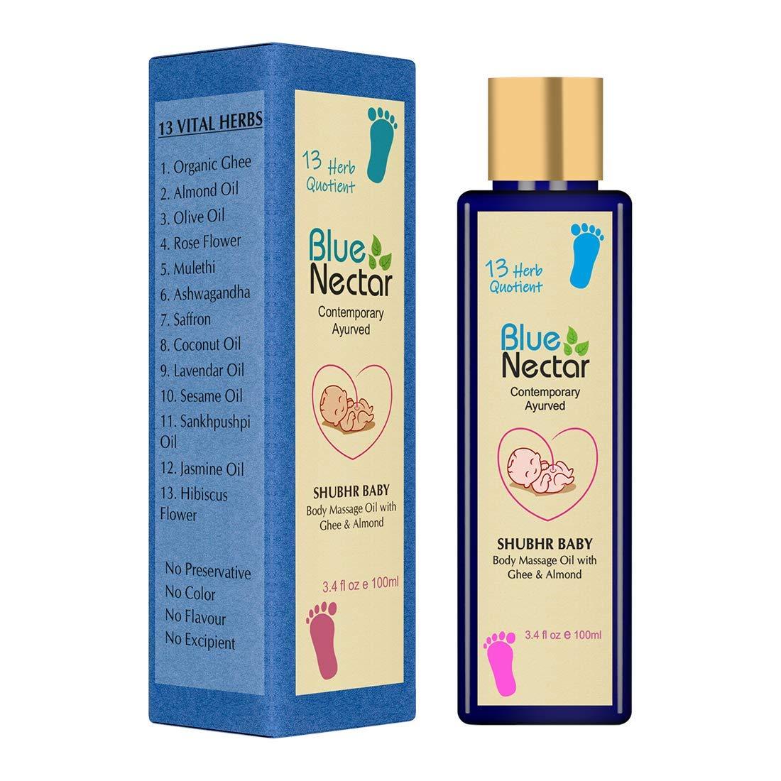 Radhe Blue Mail order cheap Nectar Ayurvedic Baby Oil Very popular! Massage Ghee Organic with