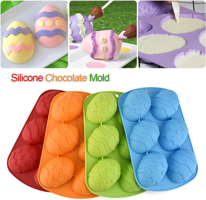 Yunt Ostern Ei Kuchenform Silikonform 6-Hohlraum Schokoladeneier Easter Silicone Cake Mold, Farbe Wird nach dem Zufallsprinzip versendet B079DKS2ZG