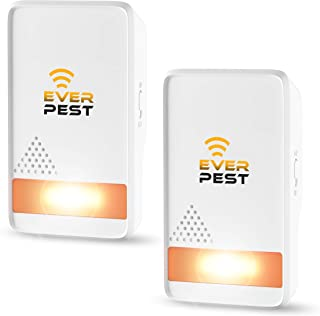Pest Control Ultrasonic Repellent - Easy Humane Way to Repel Rodents, Ants, Cockroaches, Bed Bugs, Mosquitoes, Flies, Spiders Bats - Eco-Friendly Safe for Humans Pets - 2 in Pack
