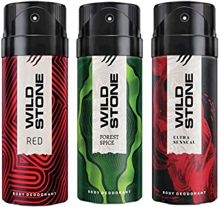 Wild Stone Red, Ultra Sensual & Forest Spice Deo Combo