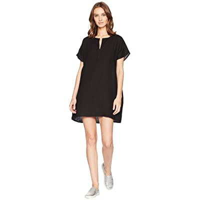 Allen Allen Solid Boxy Pullover Dress (Black) Women