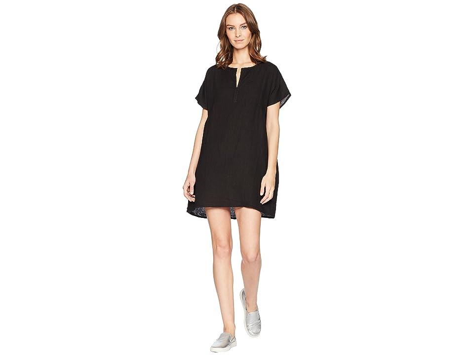 Allen Allen Solid Boxy Pullover Dress (Black) Women