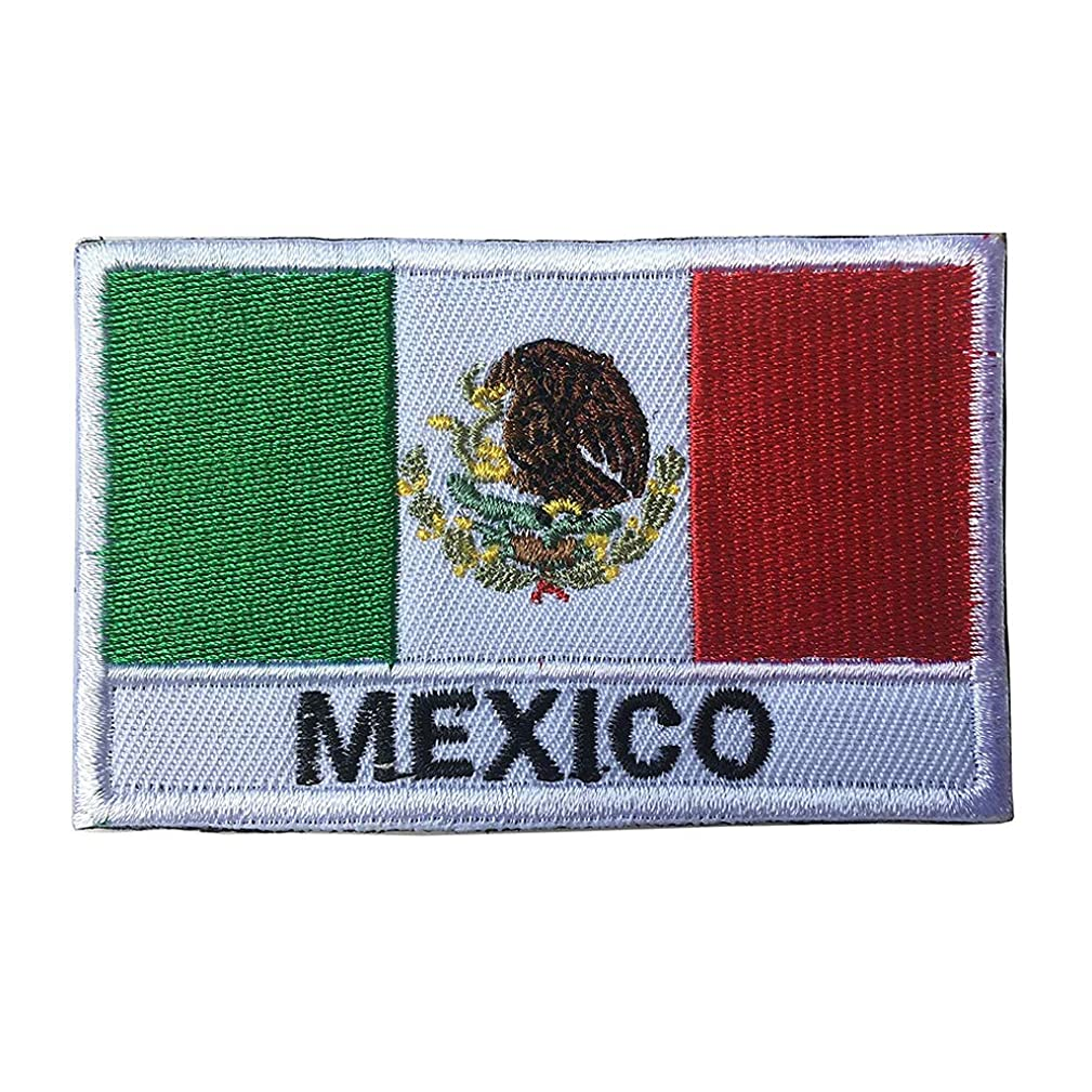ShowPlus Mexico Flag Patch Military Embroidered Tactical Patches Morale Shoulder Applique