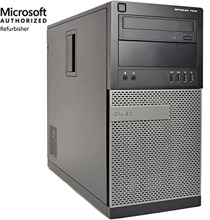 Dell OptiPlex 7010 Minitower Desktop PC - Intel Core i5-3470, 3.2GHz, 8GB, 1TB, DVD, Windows 10 Professional (Renewed)