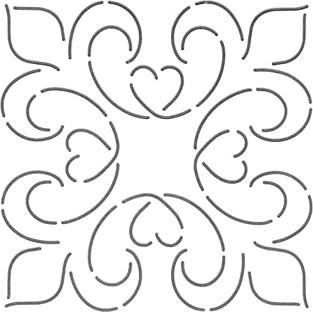 5-1//2 x 5-1//2 Quilting Creations Double Feather Quilt Stencil