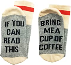ALNDA Christmas IF You Can Read This PLEASE Bring Me A Glass Of Wine Beer Coffee Unisex Socks